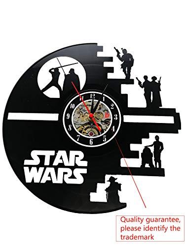 Meet Beauty Ding Star Wars Death Star entworfen LP Record Wanduhr
