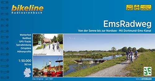 EmsRadweg: Von der Senne bis zur Nordsee - Mit Dortmund-Ems-Kanal. 1:50.000, 382 km, wetterfest/reißfest, GPS-Tracks Download, LiveUpdate (Bikeline Radtourenbücher)