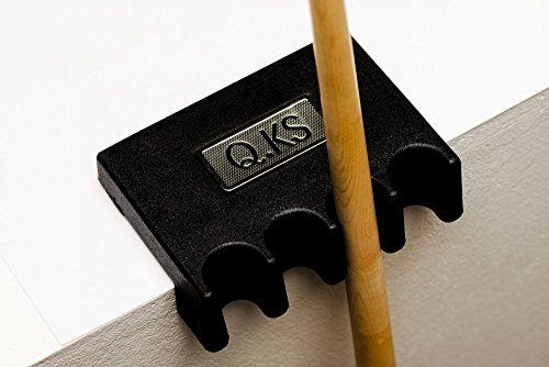 QK-S Queuehalter Kunststoff für bis zu 4 Billard-Queues, zum Auflegen, mit schützender Gummi-Beschichtung