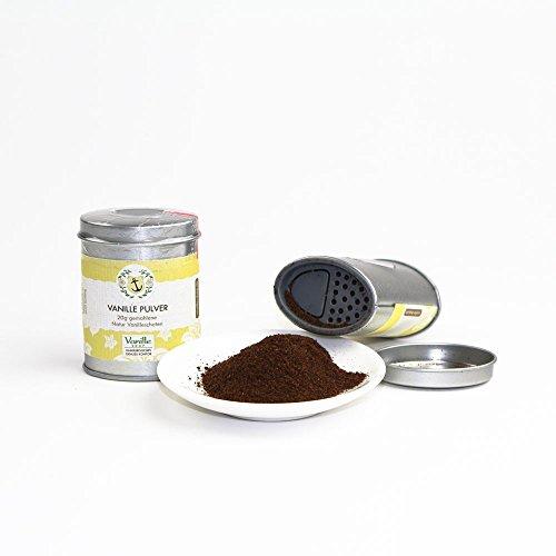 Natur Vanillepulver 20g / gemahlene Vanille Schoten / vom Vanille Shop / ideal zum Backen und würzen