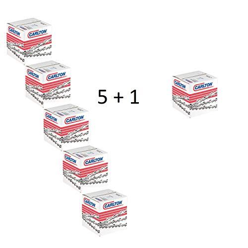 5 + 1 Stück Carlton Sägekette Vollmeißel 3/8