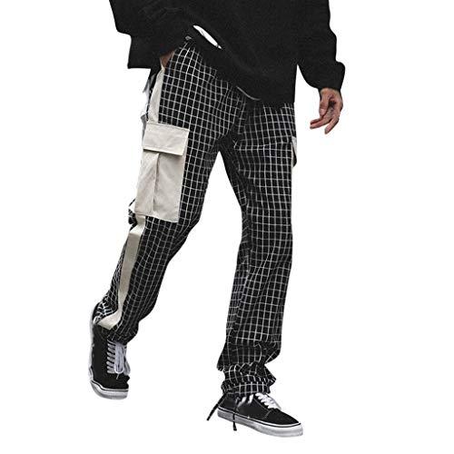 JERFER Moda Casual Pantalones A Cuadros De Los Hombres Grande Casual Pantalones