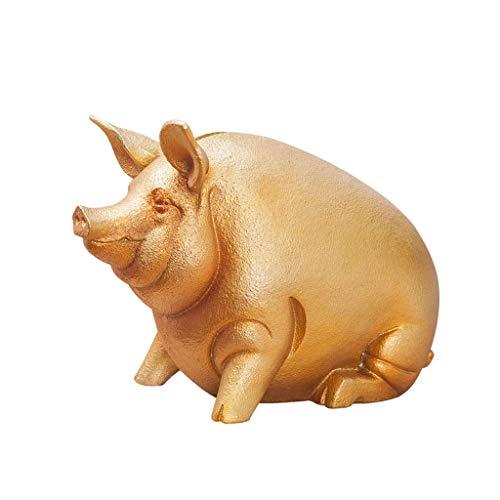 Golden Pig Money Bank Bank de Gran Capacidad Lucky Pig Decoration Money Box Los Mejores Regalos para niños Adultos (Color: Oro) TINGG (Color : Gold)