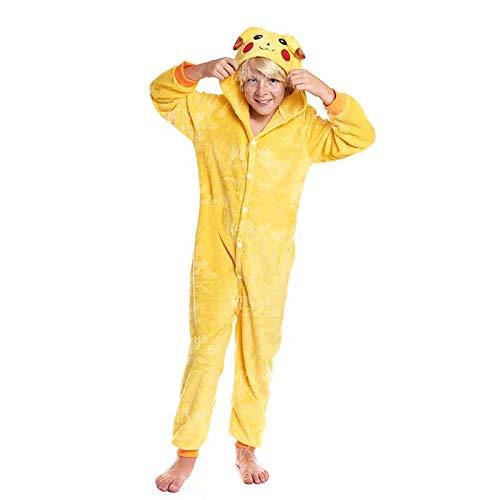 Partilandia Disfraz de Ratón Eléctrico Infantil para Carnaval Pijama Kigurumi 7-9 años 21673