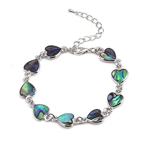 PLANT GIFT Braccialetto d'amore Braccialetto di gioielli di cristallo Braccialetto di gioielli Braccialetto di zirconi Regalo per donne Uomini Ragazze (Heart)