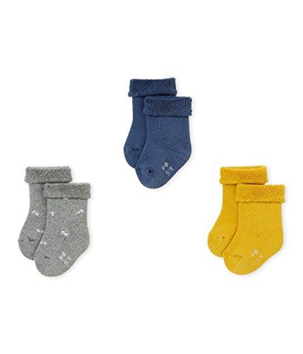 Petit Bateau Chaussettes, Multicolore (Variante 1 99), 0-3 Mois (Taille Fabricant:P15 Pointure 15/18 (NAI/3MOIS)) (Lot de 3) Bébé Fille