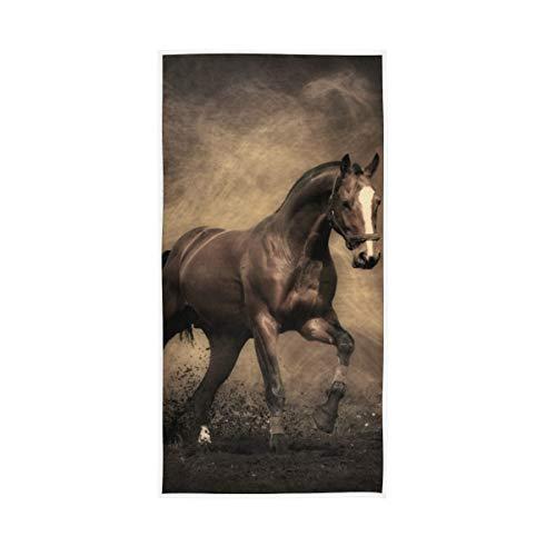 Dekorative hochsaugfähige Vintage Pferd Staub braun Gast Mehrzweck 30 x 15 Zoll Keepers weiche große Badetücher Hand für Badezimmer Home Hotel Gym Spa