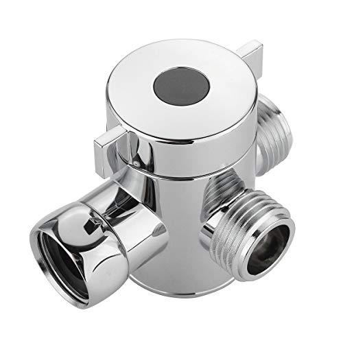 KDOAE Válvula de Desvío G 1/2 Baño de 3 vías Sistema de Ducha Universal Parte de Repuesto Parte de latón Brazo de Ducha Válvula desviador Válvula Desviadora de Ducha (Color : Silver, Size : G1/2)
