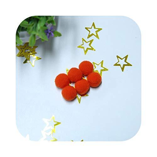 happy-Boutique Pompom DIY Tassel 15 mm Craft Ball Gift for Children Home Decoration Wedding Decor – Orange-15 mm (200 Pieces)