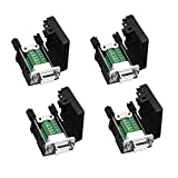 DaFuRui(4Pcs-Female) DB9 Solderless RS232 D-SUB Serial to 9pin Port Terminal Female Adapter Connector Breakout Board with Case Long Bolts Tail Pipe