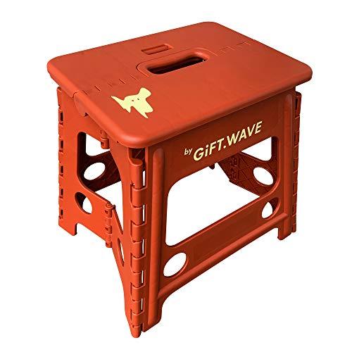 Yh.T 折り畳みチェア ステップ スツール アウトドア 椅子 踏み台 脚立 (チョコレート色) 新色