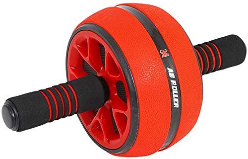 Kacsoo Bauchmuskeltrainer mit extra dicker Knieschoner – Schaumstoff-Griffe, Crossfit, Fitnessgerät für Bodybuilding, Fitness, Bauchtrainer, rot
