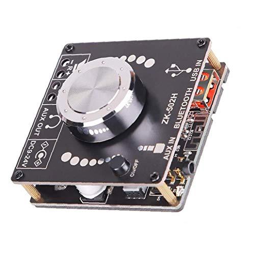 nJiaMe Amplificador Mini Bluetooth 2.0 Desktop Receiver Stereo DIY Amplificador de Sonido...