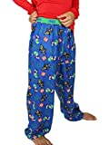 Lego Batman Boys Flannel Lounge Pajama Pants (14-16, Blue)