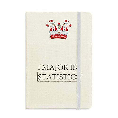Quote I Major In Statistics Christmas Snowman - Cuaderno de tapa dura gruesa