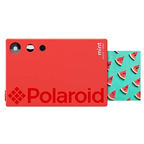 Polaroid Mint Sofortdruck-Digitalkamera (Rot), Druck auf Zink 2x3 Fotopapier mit festhaftender Rückseite