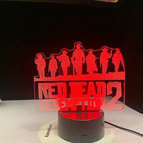 jiushixw 3D acryl nachtlampje met afstandsbediening kleurverandering bureau licht rok kind ouderlijk licht veel gebogen gouden bloemen rode planten van rode rozen tekening nacht resultaten oude T