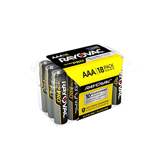Rayovac AAA Batteries, Ultra Pro Alkaline AAA Cell Batteries (18 Battery Count)
