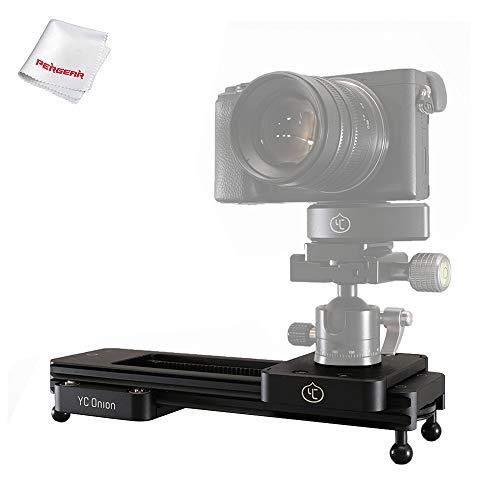 YC Onion Chocolate cámara Slider, Opciones de Montaje versátiles para DSLR, cámara sin Espejo, teléfono Inteligente, lapso de Tiempo y Toma de Video