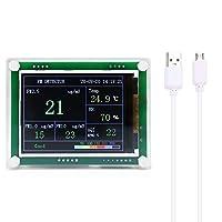 PM2.8検出器 高精度LEDデジタルディスプレイ USBミニポータブル多機能 家庭用