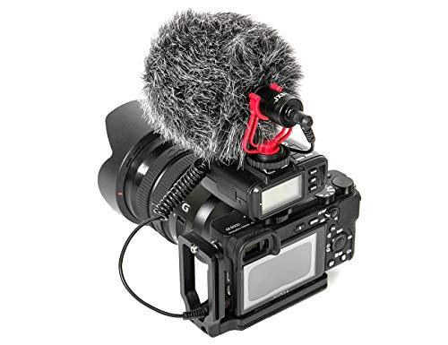 Mini Microfono Video Cardioide Shotgun Universale Microfono con Cancellazione Del Rumore per Fotocamera DSLR, iPhone, Samsung Galaxy, Laptop, PC, Tablet e Smartphone