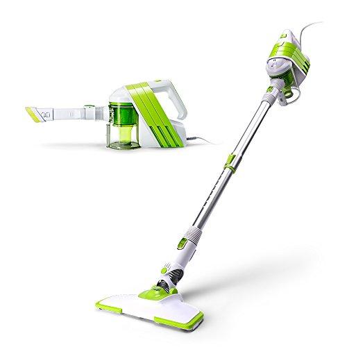 PUPPYOO Aspirapolvere Portatile, Silenzioso, ideale per la pulizia della casa. Colore Bianco e Verde WP521