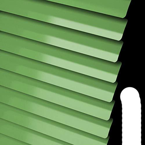 Tende in alluminio a lamelle tipo Sunfree C / S Tende veneziane da 25 mm impermeabili all'umidità per ufficio / bagno-Verde brillante, L110cmxH150cm