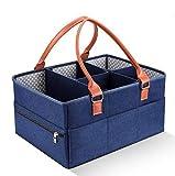 Organizador de carrito de pañales para bebés Cesta de almacenamiento de pañales portátil grande Divisor desmontable de personalidad Nuevo