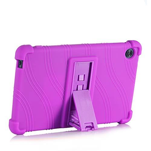 SsHhUu iPad Mini 1/2/3 Case, Light Weight Kid Friendly Soft Silicone Protective Cover with Kickstand for iPad Mini 3/ Mini 2/ Mini 1 - 7.9 inch, Purple