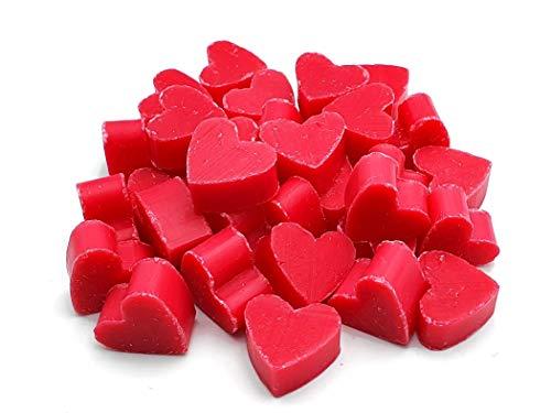 terranea Pflanzenölseife mit Mandelmilch Mini Mini Herzen Lotus Seife - ideal als Geschenk, zur Hochzeit, als Gästeseife, Gastgeschenk - Vegan, rein pflanzlich - 100g (1)