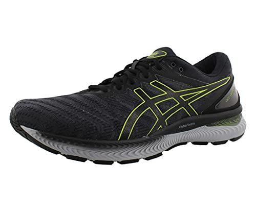 ASICS Men's Gel-Nimbus 22 Running Shoes, 6, Carrier Grey/Lime Zest