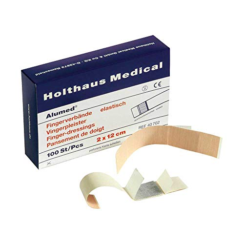 Holthaus Medical Alumed® Fingerverband Fingerpflaster Wundpflaster, elastisch, 2x12cm, 100St