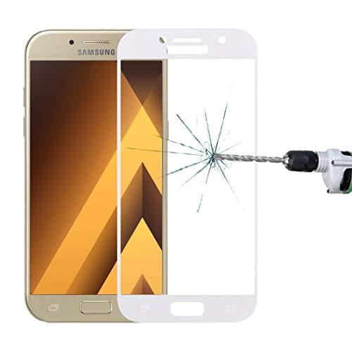 JIANGHONGYAN For Samsung Galaxy A5 (2017) / A520 0.33mm 9H Superficie Dureza Pantalla de Seda Pantalla Completa Protector de Pantalla de Cristal Templado (Color : Blanco)