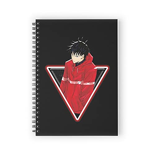 Jujutsu Kaisen - Fushiguro Jacket Spiral Notebooks 160 Pages, Pages with Premium Thick Paper, Strong Twin-Wire Binding for College Students and Office