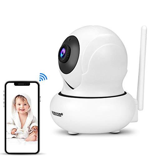 Hdliang Wifi Telecamera IP wireless coperta 1080P HD Mini Baby Monitor Videocamera di sorveglianza di sicurezza PTZ 2MP, Zoom 4X, Citofono audio bidirezionale, Face tracking, P2P Network Wanscam K21