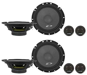 2  Pairs Alpine SXE-1751S 6.5  280 Watt Car Audio Component Speakers