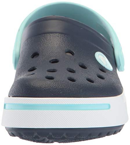 Crocs Crocband II Clog (Toddler/Little Kid) Navy/Ice Blue 1 Little Kid M