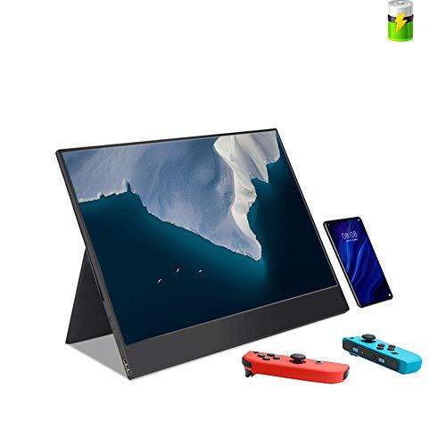 UNU_YAN Pantalla portátil, con Magnética Funda/Soporte de 15,6 Pulgadas portátil de visualización 178 ° de ángulo Amplio, Ultra Ligero y portátil