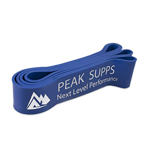 Peak Supps Resistance Bands | Exercise Pull Up Band | 1 Metre Long Loop Full Set - 7 Bands (1 of each size)