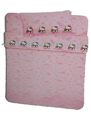 Sanrio Juego de sábanas para cama individual Hello Kitty Oso con sábanas y funda de almohada, dibujos animados *04186