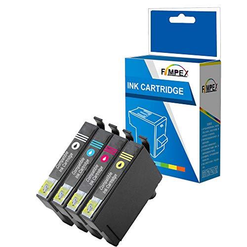Fimpex - Cartucho de tinta compatible para Epson XP-2100 XP-2105 XP-3100 XP-3105 XP-4100 XP-4105 WF-2810DWF WF-2830DWF...