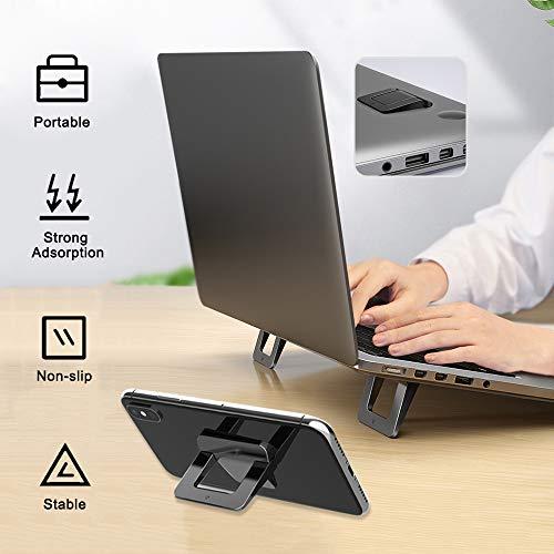 AYADA Laptop Ständer, Faltbar Unsichtbare Ergonomisch Tragbarer Leichter Telefonhalter laptopstände,Faltbarer Universal Kühlung Notebook Laptop Halterung kühlung Ventilator Ständer Riser(Schwarz)
