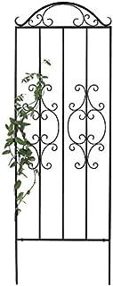 Plow & Hearth 50690 Montebello Iron Metal Tall Scroll Outdoor Garden Trellis, 32