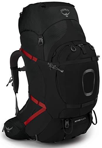 Osprey Aether Plus 85 Schwarz, Herren Alpin- und Trekkingrucksack, Größe S-M - Farbe Black