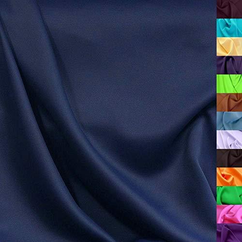 Modestoff / Dekostoff universal Stoff ALLROUND knitterarm - Meterware am Stück (Marine-Blau)