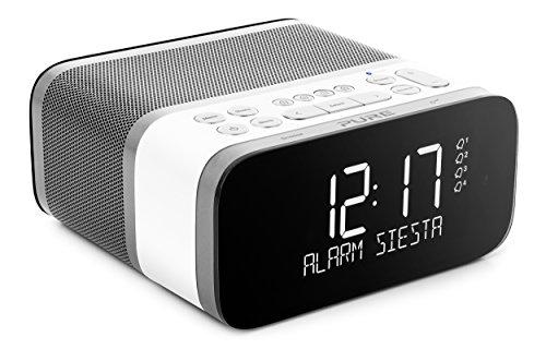 Pure Siesta S6 Bluetooth Radiowecker (Digitalradio, CrystalVue Display, Bluetooth, DAB/DAB+ und UKW, 40 Senderspeicherplätze, Sleep-Timer und Weckfunktion), Polar