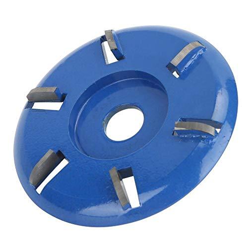 Disco de tallado en madera, acero, 6 dientes, herramientas de fresado, pulido, potencia, herramienta de carpintería, accesorios de amoladora angular(Curved blade)
