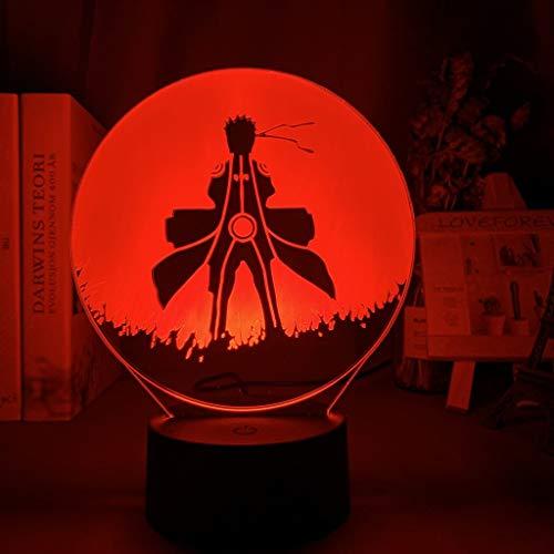 Fantasy Naruto 3D luz de noche cargador USB decoración del hogar café fiesta juguete cumpleaños Navidad niños regalo