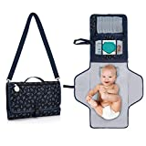 BabyOrbit Portable Diaper Changing Pad - Waterproof Portable Changing Pad for Baby, Travel Pad Kit, Wipes Pocket + 2 More and Built-in Memory Foam Pillow