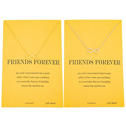Enfianced Infinity Pendant BFF Necklace for Women Graduation Gift